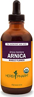 Herb Pharm Certified Organic Arnica Liquid Extract for Minor Pain Support - 4 Ounce