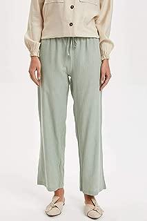 DeFacto Kemerli Dokuma Regular Fit Pantolon