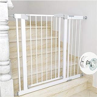 階段上 ペットゲート 赤ちゃんガード柵 スマートゲイト オートクローズ機能 180度シャフト 対象6~36ヶ月 寝室/キッチン/犬/猫 (Color : Height 80cm, Size : 117~124cm)