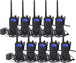 Retevis RT5 Dual Band Walkie Talkies Rechargeable Two-Way radios UHF VHF 128 CH VOX DTMF FM Radio 1750Hz Ham Radio(10 Pack,Black)