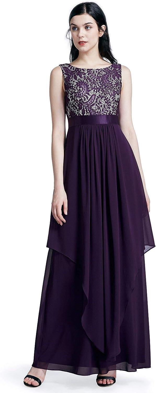 EverPretty Elegant Sleeveless Round Neck Party Evening Dress 08217