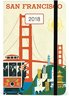 Cavallini Papers & Co, Inc. AG2018/SF 旧金山每周计划员 Cavallini 2018 旧金山每周计划员