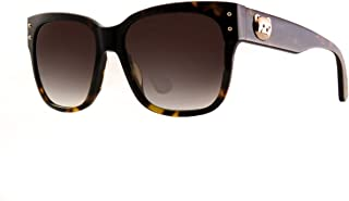 Moschino Rectangle Sunglasses for Women - Brown Lens