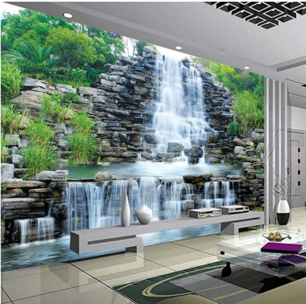 Custom El Paso Mall 3D Photo Wallpaper In stock Natural Waterfalls Mural Pastoral Styl