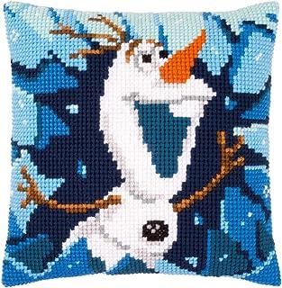 Kit de punto de cruz Vervaco: Cojín: Disney: Frozen Olaf, N\A, 40 x 40 cm