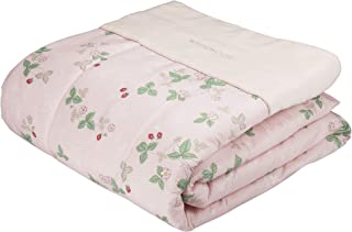 東京 西川 肌掛け布団 シングル ウェッジウッド ワイルドストロベリー 綿100% さっぱり ピンク AE00500037P