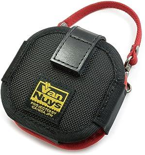 バンナイズ (VanNuys) SONY Xperia Ear Duo 用 完全無欠 の キャリング ケース / バリスティック ナイロン 製 (ブラック) × 8号 帆布 製 (レッド)