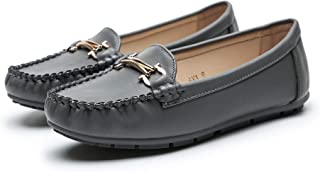 Ashley A Comfortable Foldable Slip On Loafers Moccasins Driving & Walking Flats Cushioned Insole Shoes for Women, A-AVE10