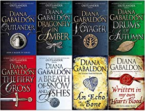 Diana Gabaldon Outlander Series 8 Books Collection Set (Outlander,Dragonfly in Amber,Voyager,Drums of Autumn,Fiery Cross,B...