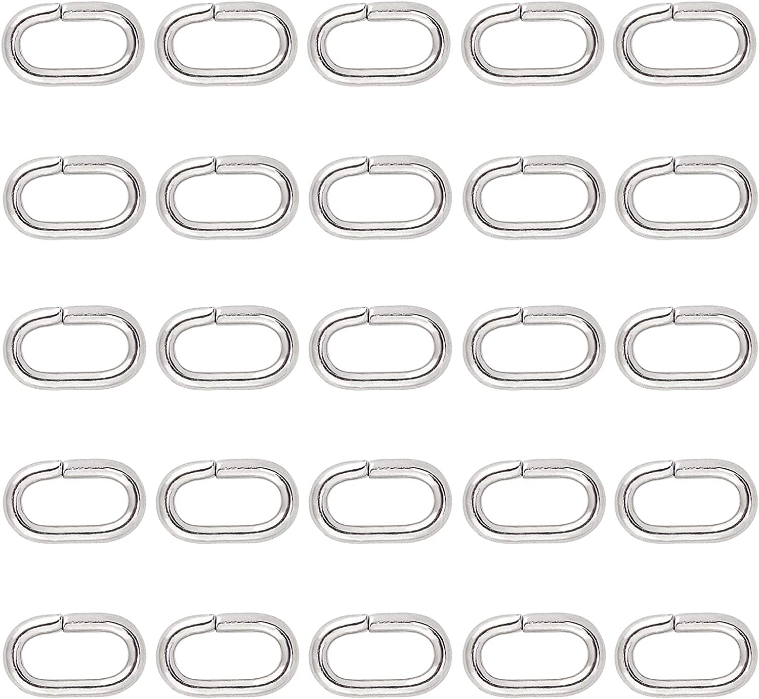 PandaHall About 200pcs Iron Oval Open Jump for Sale special price Max 61% OFF Ne Rings Bracelet