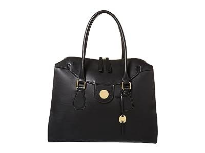 Lodis Accessories Rodeo RFID Gwyneth Zip Top Tote (Black) Tote Handbags