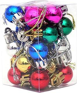 Susany 48PCS Bolas Bola de Decoración Navideña Bola de Decoración Navideña Adornos de Bolas de Navidad Brillantes Inastill...