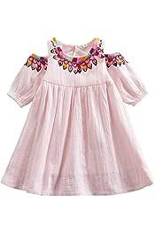 JUXINSU Girl Sleeveless Denim Dresses for Summer Baby Kids Cotton Flower Skirt 3-8 Years SH2168