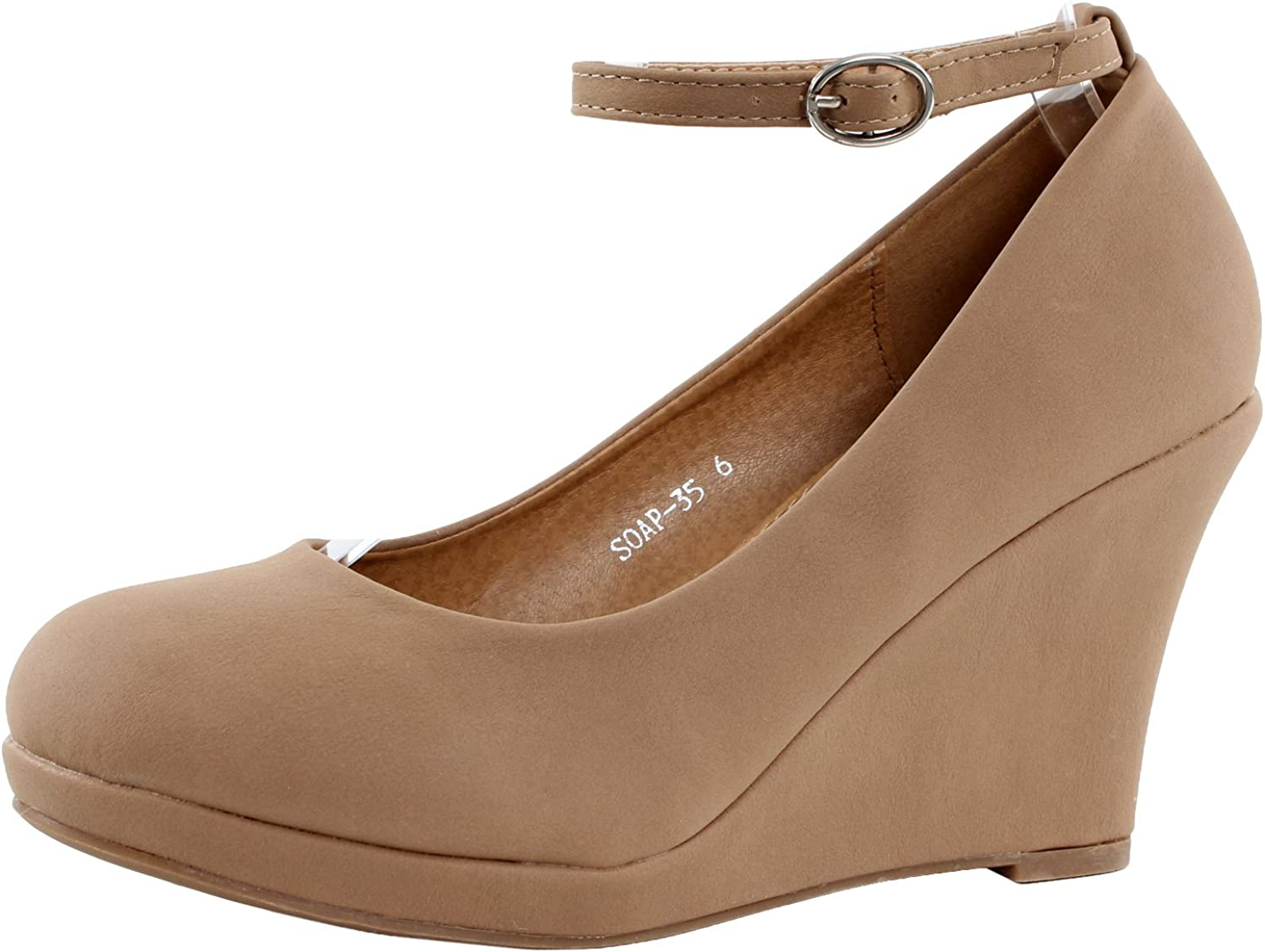 Top Moda Soap-35 Wedges Pumps-shoes