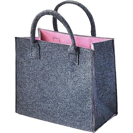 Kobolo Filztasche Shopper Einkaufstasche Filz Freizeittasche Shopper Bag rosa