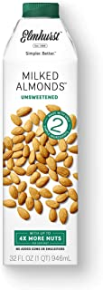Elmhurst 1925 Unsweetened Almond Milk, 32 Ounce (Pack of 6)