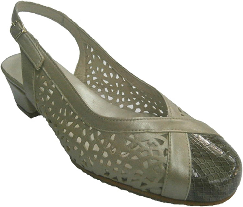Roldan Geschlossene Schuhe offener Ferse Gitter metallisch  | Tragen-wider