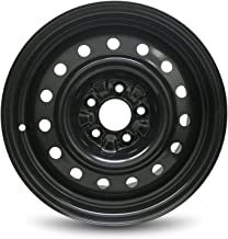 Road Ready Car Wheel For 2007-2012 Nissan Altima 16 Inch 5 Lug Black Steel Rim Fits R16 Tire - Exact OEM Replacement - Full-Size Spare