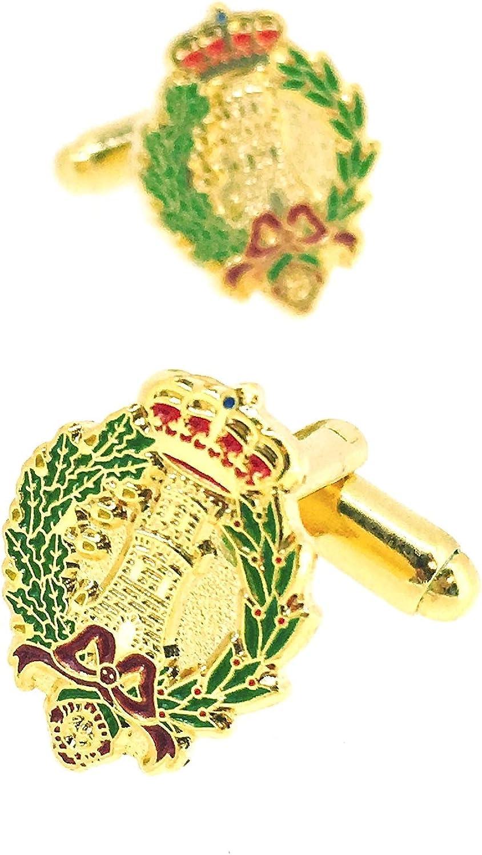 Gemelolandia | Gemelos para Camisa del Emblema del Arma de Ingenieros del Ejército de Tierra de España Gemelos Originales Para Camisas | Para Hombres ...