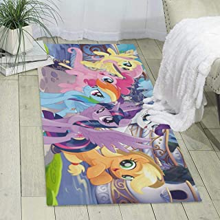 Anime My Rainbow Pony Area Rugs Super Soft Indoor Carpet Suitable for Children's Bedroom Family Living Room Decoration Kindergarten Carpets -70