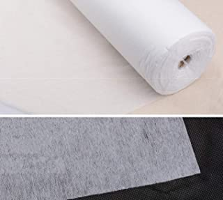 5 Metres, White H2140 IRON ON LIGHTWEIGHT INTERFACING MATERIAL *4 COLOURS* 100cm WIDE HABERDASHERY