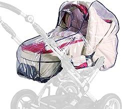 sunnybaby 13195 - Universal Regenverdeck, Regenschutz für Kinderwagen, Babywanne, Soft-Tragetasche | Kontaktfenster f. optimale Luftzirkulation | glasklar | schadstofffrei | Qualität: MADE in GERMANY
