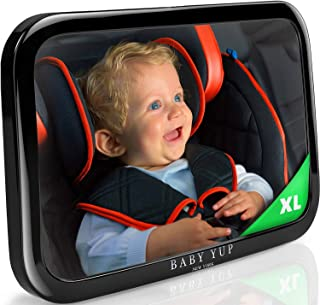 Baby Car Mirror for Rear Facing Car Seat – Fully Adjustable, Shatterproof, And Built To Stay In Place - Best Extra Large Back Seat Car Baby Mirror To Check On Your Baby While Driving
