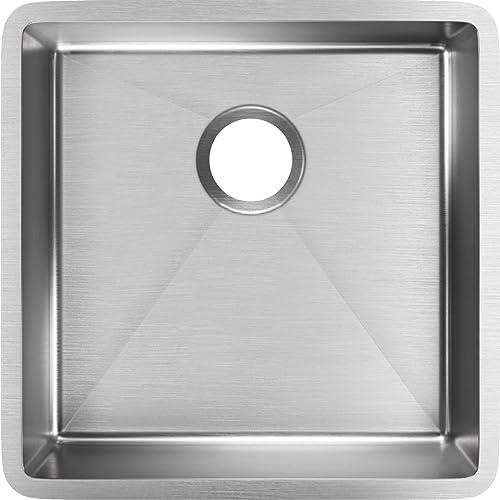 """new arrival Elkay ECTRU17179T Crosstown Single Bowl outlet sale Undermount Stainless online sale Steel Sink, 19"""" outlet online sale"""