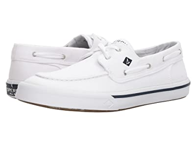 Sperry Bahama II Boat Washed Sneaker (White) Men