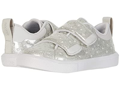 Native Kids Shoes Monaco HL Glitter (Toddler/Little Kid) (Silver Glitter/Tundra Grey) Girls Shoes