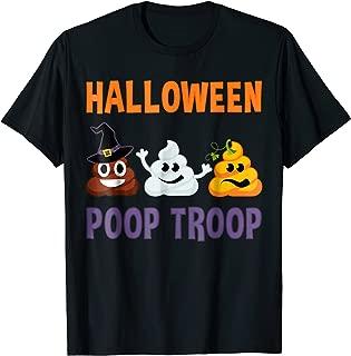 Halloween Poop Emoji Shirt - Poop Troop Witch Ghost Pumpkin