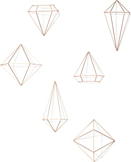 Umbra Prisma Wall Decor, Set of 6, Copper