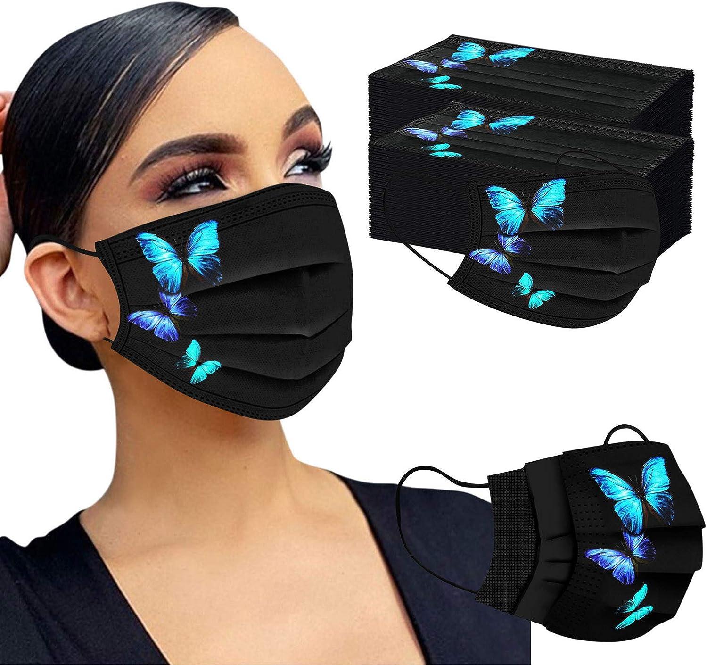 Gpure Mujer Reutilizable Negro Algod/ón Bufanda Lavables con Filtro Repuesto Respirable