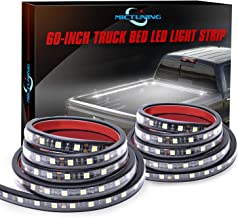MICTUNING 2Pcs 60 Inch White LED Cargo Truck Bed Light Strip Lamp Waterproof Lighting Kit with On-Off Switch Fuse 2-Way Splitter Cable for Jeep Pickup RV SUV and More