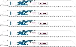 comprar comparacion EZARC Hojas de sierra sable Bimetálica Cobalt R922PM 225mm 14TPI puede Cortar Metales - 5 piezas