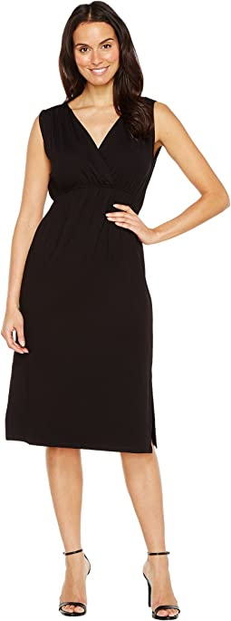 Shirred Shoulder Midi Dress