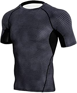 4d77a7cce22ca5 スポーツシャツ メンズ 半袖 コンプレッションウェア 冷感 超軽量 加圧シャツ トレーニング 吸汗速