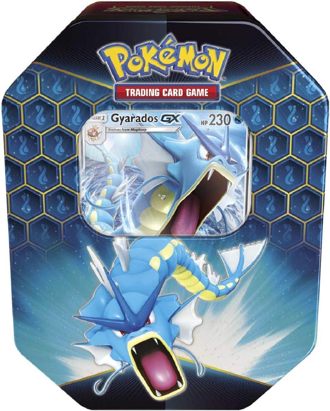 Pokemon Hidden Fates Gyarados GX Collectors Tin | Inc Booster Packs & Promo  Card: Amazon.de: Spielzeug
