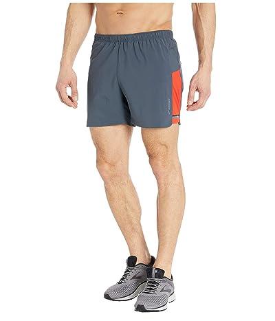 Brooks Sherpa 5 Shorts (Asphalt/Lava) Men