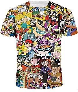 Digital Cartoon Animal T shirts colorful