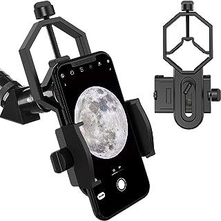Telescope Phone Mount, Universal Smart Phone Adapter Holder Compatible Binocular Monocular Spotting Scope Telescope Micros...