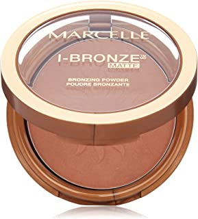 (Dark Bronze / Matte) - Marcelle I-Bronze Bronzing Powder, Dark Bronze, Hypoallergenic and Fragrance-Free, 10ml