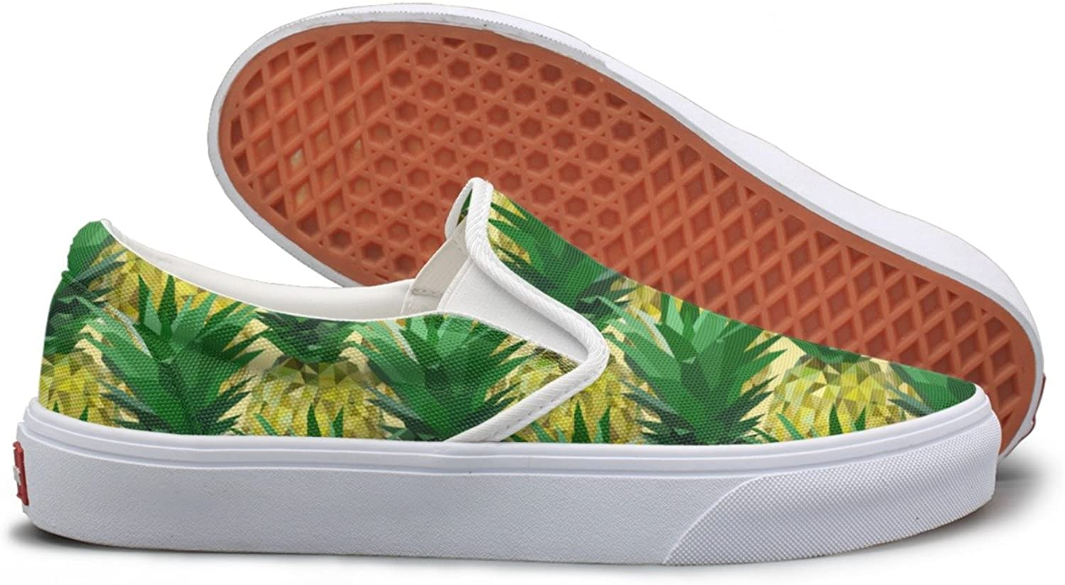 Close Lowpoly Pineapple Canvas shoes Women Casual