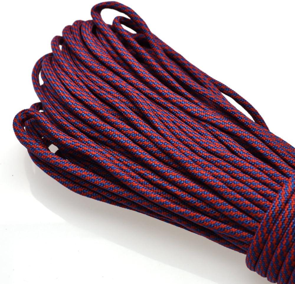 Cuerda de paraca/ídas 550 multifunci/ón de 12 colores cuerda de paraca/ídas para supervivencia al aire libre 10 pies cordones brida de mono cuerda de paraca/ídas para tienda de campa/ña
