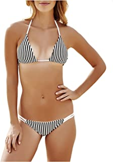 Jueshanzj Womens Swimwear Sexy Stripe Bikini Beachwear
