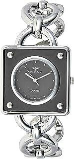 Spectrum Women's Black Dial Brass Band Watch - 93539L-2