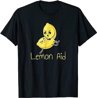 Funny LemonAid T-Shirt - Lemon First Aid Pun Joke Tee