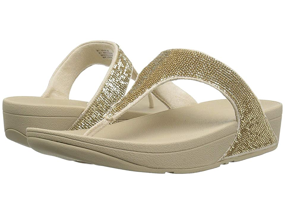 242c64ab2fbcba FitFlop Electratm Micro Toe Post (Pale Gold) Women