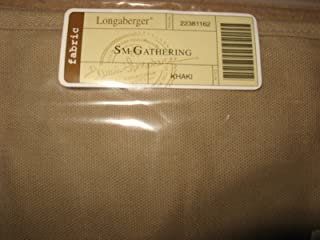 Longaberger Small Gathering Basket Khaki Tan Color Fabric Over Edge Style Liner