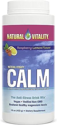 Natural Vitality Calm, The Anti-Stress Dietary Supplement Powder, Raspberry Lemon - 16 Ounces